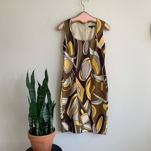 David Meister 60's / Pucci Inspired Sheath Dress